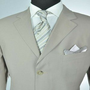 ZEGNA Light Tan 3Btn Summer Suit
